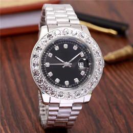 Relojes analógicos de gran deporte online-44 MM Gran diamante relogio masculino hombres marca de lujo reloj de pulsera deportivo analógico fecha de visualización reloj de cuarzo de los hombres reloj de negocios reloj de los hombres