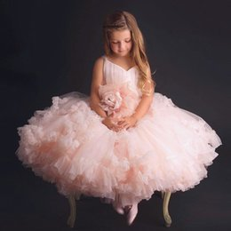 Wholesale Pure White Flower Girl Dresses - High Quality Pure White Flower Girl Dresses 2018 Garden Summer Weddings Kids Formal Wear Lace Appliques Sheer Sleeves Beaded Bow Sash A8268