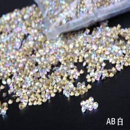 taglia ss2-ss19 Crystal AB chatback di vetro pointback Nairl Art cristalli strass forma rotonda decorazione uso 1400 pz per confezione cheap pointback glass rhinestone da strass di vetro di puntoback fornitori