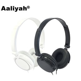 Wholesale Headphone Big - [Aaliyah] S1 3.5mm Wired Headphones With Microphone Stereo Big Foldable Headsets Earphones For Phone Xiaomi for Computer MP3
