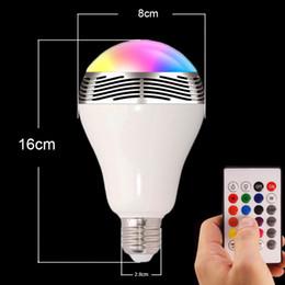 2019 lampadine del marchio di controllo Brand new E27 led Smart wireless colorato luce con altoparlante lampada Bluetooth Phone APP Control Music Speaker Bulb Dimmerabile lampadine del marchio di controllo economici