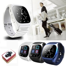 Wholesale retail music - Smart Bluetooth Watch Smartwatch M26 with LED Display Barometer Alitmeter Music Player Pedometer for Android IOS Mobile Phone with retail