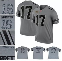 Wholesale iv s - Custom 2017 New Gray Ohio State Buckeyes Black Camo Fashion Jersey Dobbins Barrett IV Bosa Baker Stitched Your Own Any Name Number S-3XL