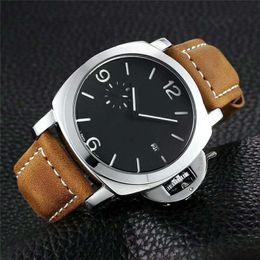 2019 ímãs itens Marca Limited Edition 1950 PVD Caixa de fibra de carbono preta 00700 LAB-ID 700 Black Dial Quartz Mens Watch Pulseira de couro Relógios de luxo para homem