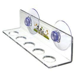Аксессуары для ванных комнат для зубных щеток онлайн-EZLIFE держатель зубной щетки Главная аксессуары для ванной комнаты набор 5 отверстие стойки держатель зубной щетки туалет Стент инструмент для хранения MS450