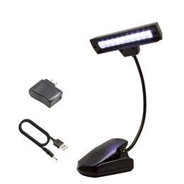 2019 lampe de table de lecture Lampe à pince flexible à 10 LEDs Lampe à lecture orchestre à livre Lampe à pince LED avec adaptateur secteur Câble USB lampe de table de lecture pas cher