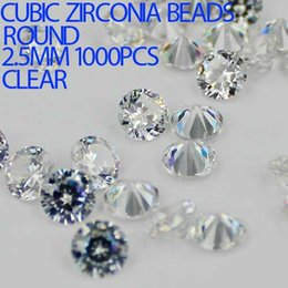 Wholesale Brilliant Beads - 1000pcs 2-3.5mm Crystal Clear Color Brilliant Cuts Round Cubic Zirconia Beads Stone Supplies For Jewelry DIY Nail Art Decoration