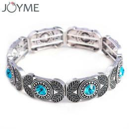 Wholesale India Charms - whole saleFashion India Vintage Charm Crystal Stretch Bracelets & Bangles For Women Adjustable Strand Marcasite Men Bracelet Bijoux Femme