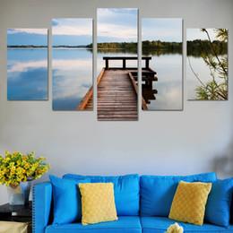 Abstrait Photo Mur Modulaire Photos Cadre HD Affiches 5 Panneau Pont Paysage Toile Imprimé Peinture Pour Salon Décoratif ? partir de fabricateur