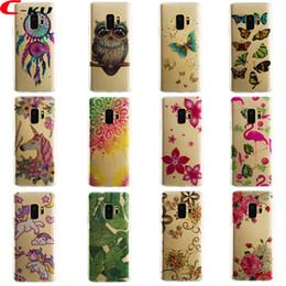 Wholesale Galaxy Mini Skin - Cartoon Unicorn Flamingo Soft TPU Case For Samsung Galaxy S9 Plus A8 2018 P9 Lite Mini Mate10 Lite Pro Owl Horse Flower Fashion Skin Cover