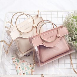 Wholesale brand new cell phones - New Fashion Women Designer Handbags Ring Girls Chain Luxury Handbag Shoulder Bags Brand Ladies Messenger Bag Crossbody Bags 2 Piece Sets