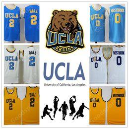 Wholesale university blue shirt - UCLA University NCAA Stitched Russell Westbrook Lonzo Ball Kareem Abdul Jabbar Reggie Miller Kevin Love Jersey SHIRT sport basketball RETRO