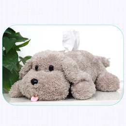 Wholesale Tissue Box Covers Wholesale - New Lovely Plush Dog Tissue Box Case Home Office Car Tissue Boxes Cover Modern Table Decoration Container Towel Napkin Paper Bag