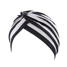 Bonnets contre le cancer en Ligne-Femmes Cancer Chemo Hat Bonnet Echarpe Turban Head Wrap Casquette Chemo Chapeau Bandana Plissé