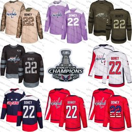 2018 Stanley Cup Champions 22 madison bowey washington capitals Green red  USA Flag Purple Fights Cancer Practice Camo Veterans day Jerseys  inexpensive ... 4b5e46a485fc