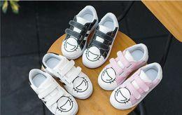 Wholesale Cute Black Children - 2018 spring tide children new children's girls cute shoes boys white shoes