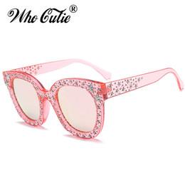 Óculos de pentagrama on-line-OMS CUTIE 2018 Pentagrama Embellished Quadrado Rosa Óculos De Sol Das Mulheres Designer de Marca Do Vintage Feminino Óculos de Sol Retro Shades OM523