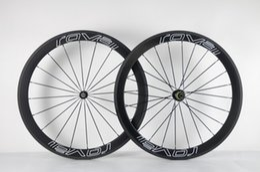 Rodas de carbono branco on-line-Roval Rodado Branco 50mm incluir hubs rodas de bicicleta de carbono rodas de carbono bicicleta de estrada de fibra de Carbono rodado Venda Online
