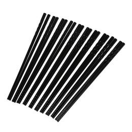 Wholesale Dishware Wholesale - 10 Pairs Kitchen Dishware Nonslip Plastic Chopsticks Black