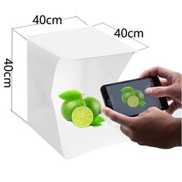 nuova fotografia leggera Sconti Box LED Light Piccolo Photo Studio Photography Cube Sfondo NEW del mini Fold portatile Lambency Home Furnishing 45kl3 V