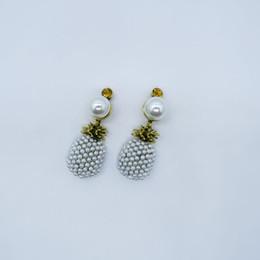New Baroque Vintage perle ananas boucles d'oreille pour bijoux de mode pour femmes Antique or fruit perle déclaration boucle d'oreille mariée brincos ? partir de fabricateur