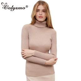 Colysmo Long Sleeve Turtleneck Sweater Women Jumper Winter Tops Sueter  Mujer Cable Knitted Pullover Knitwear Women sweaters Top 769a4e764