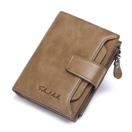 brand cow leather bag NZ - Brand Short Wallet Cow Leather Men Credit Card Bag Large Capacity Fashion Wallet Multifunction Card Bag Retro Design Coin Purses
