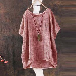 Wholesale wholesale plus size tops - ZANZEA 2018 Summer Women Short Batwing Sleeve Loose Blouse Ladies Casual Shirt Blusa Feminina Solid Blusas Casual Tops Plus Size