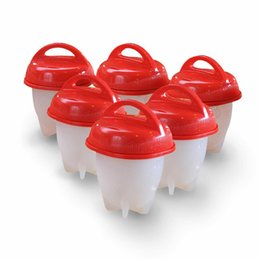 Wholesale Hard Boiled - Silicone Egglettes Egg Cooker Hard Boiled Eggs without the Shell For Egg Tools Pack of 6pcs