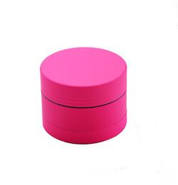 rosa schleifer Rabatt Tobacco Grinder Pollen Catcher Grinder 3 Stück Rosa Zink Legierung Spice Herb Grinder 1.6