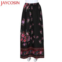 492830ee15 red floral maxi skirt Coupons - JAYCOSIN 2018 Women Boho Maxi Skirt Beach  Floral Holiday Summer
