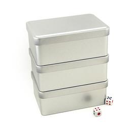 Caja de la joyería de la lata online-Color sólido Rectangular hierro caja de hojalata té / caramelo / galletas caja de la lata caja de almacenamiento de joyería 3 unids / lote envío gratis