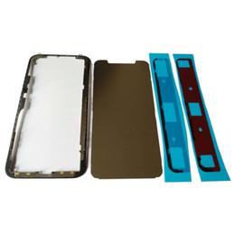 """Réparation de lunette iphone en Ligne-50pcs nouvelle haute qualité pour iPhone X 5.8 """"cadre moyen avant lunette LCD écran tactile logement réparation pièces pour IX I10 IPX"""