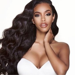 indain human hair Promo Codes - Indain Virgin Hair Natural Color Full Lace Human Hair Wigs With Pre Plucked Natural Hairline Body Wave Lace Front Wigs