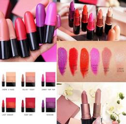 lippenstiftfarben Rabatt Make-up Lippenstift CANDY YUM YUM / RUBY WOO / CREME D'NUDE / DAMENGEFAHR / SAMT TEDDY / HEROINE 6 Farben J0047