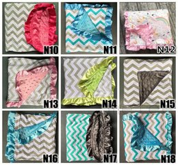 Wholesale knitting baby patterns - Over 200 ins baby minky blankets infant zigzag chevron swaddle children flower leopard camouflage blankets boys girls gold dot owl blankets