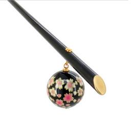 Sakura kimono online-Acrílico elegante Sakura Hair Stick japonés Kanzashi Geisha accesorios de la joyería del pelo tocado Kimono para mujeres regalo de boda