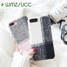 Canada Vente en gros de tissu d'hiver Vérifie Motif Téléphone à carreaux Soft Case pour iPhone X 8 7 Coque de protection arrière pour iPhone 6 6 Plus Vente en gros cheap iphone winter cover Offre