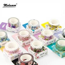 Adesivi nastro carino online-Cute 2016 Fiori Fiori nastro adesivo Washi giapponese nastro adesivo decorativo Decora Fai da te Scrapbooking Sticker Cancelleria etichetta