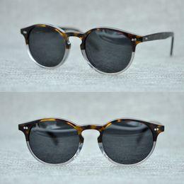 oliver völker sonnenbrille Rabatt Neueste Oliver Peoples Fashion Runde Sonnenbrille Frauen Markendesigner Vintage Gradient Shades Sonnenbrille Oculos De Sol Feminino
