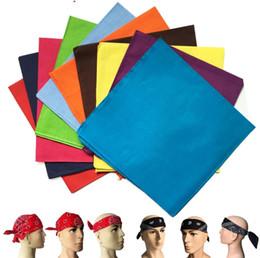 Wholesale Magic Dancing - Pure cotton pure colors headband riding hip-hop outdoor sports dance magic square scarf party mask C065-5