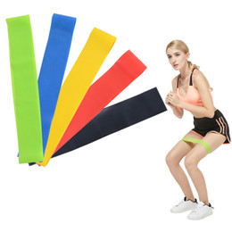 resistance band training Promo Codes - 5PCS Set Resistance Band fitness 5 Levels Latex Gym Strength Training Rubber Loops Bands Fitness Equipment Sports yoga belt Toys OTH488