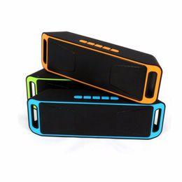 Wholesale Mini Portable Car Speaker Radio - SC-208 Mini Portable A2DP Bluetooth Speaker Wireless Megabass Stereo Car Handsfree Call Subwoofer TF USB FM Radio Music MP3 Player