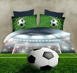 многоцветные цветочные постельные принадлежности Скидка Lannidaa Зеленый 3D Печатный Мир Футбол Комплект Постельных Принадлежностей 4 шт. Включает Покрывало Постельное Белье Наволочка Простыни Постельное белье Устанавливает Королева Размер