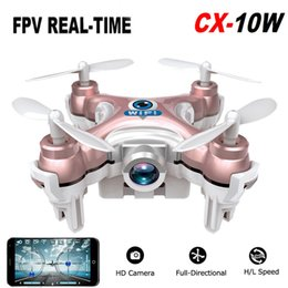 toy 3d helicopter Coupons - Mini Drone Cheerson CX-10W RC Quadcopter Wifi FPV 0.3MP Camera LED 3D Flip CX10 Update Version with Camera Helicopter Toy Gift