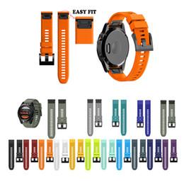 2019 быстрый ремень 26 22 20MM Ремешок для ремешка для часов для Garmin Fenix 5X 5 5S Plus 3 3HR D2 S60 Часы Quick Release Силиконовый ремешок для часов Easyfit дешево быстрый ремень
