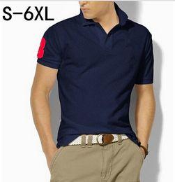 Wholesale Jersey Plus Size Shorts - High Quality Brand New Men's Polo Shirt Men Big Horse Embroidery Cotton Short Sleeve shirt sportspolo jerseys golftennis Plus Size S-5XL
