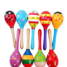 Wholesale Wooden Maracas Toy - Educational Baby Rattle Wooden Maracas Kids Infant Toys For Baby Children Wood Juguetes Toys For 0-12 Month