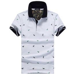 chemise homme noire à pois Promotion Été Mens Polo Shirt Coton Polka Dot Court Homme Polo Hommes Top Tee Séchage Rapide Taille M -3xl Muls Marque De Mode Noir-Gris Blanc