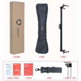 schienenschieber für dslr Rabatt 80 cm / 32 inch Video Kamera Aluminium Track Slider Für Camcorder DSLR Kamera Stabilisator Schiene Track 6 kg